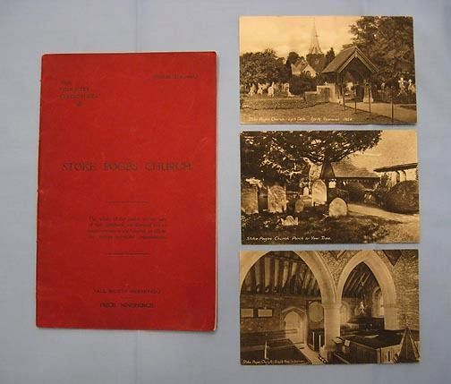 Stoke Poges Church – History and Photos in 1923 Fund-raising Booklet, Gray's Elegy