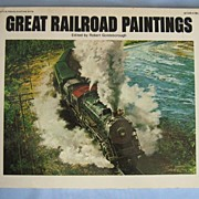 SALE 'Great Railroad Paintings' � Book with 40-Plus Color Plates of Trains