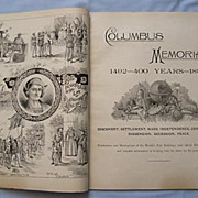 SOLD 1892 Publication Promoting Following Years Columbian Exhibition, Chicago