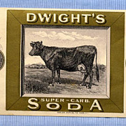 Dwight�s Baking Soda Original Trade Card � Popular Cow Illustration