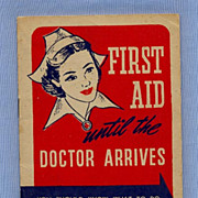 SALE First Aid Booklet  Pennsylvania Life Insurance, 1940s