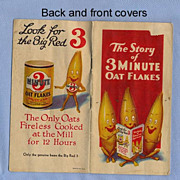 Oat Flakes Advertising Booklet, Cute Illustrations and Recipes