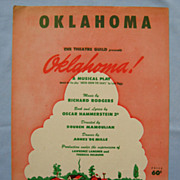 SALE �Oklahoma�, 1943 Broadway Edition � Rodgers and Hammerstein