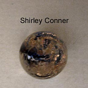 Sparkly Glass Paperweight-Style Studio Button by Shirley Conner