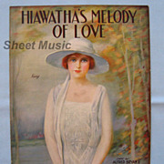 �Hiawatha�s Melody of Love� � Beautiful Cover Girl by Artist Frederick Manning, 1920