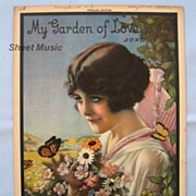 �My Garden of Love� � Romantic Cover Girl by Artist Armstrong, 1919