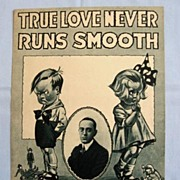 SALE 'True Love Never Runs Smooth' Cute Cover Illustration of Children, 1918