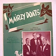 SOLD 'Mairzy Doats', Comical Song with Mixed-up Words, 1943