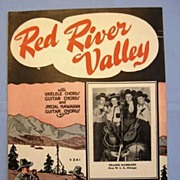 SOLD �Red River Valley � Classic Cowboy Western Lament, 1935