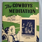 �The Cowboys Meditation� Western Song 1935 - Georgia Wildcats on NBC Radio