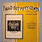 �I Had But Fifty Cents� Comic Song 1933 - Colorado Cowboys on NBC Radio