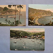 Three Vintage Views of Avalon, Santa Catalina Island, California
