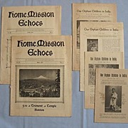 1899 Baptist Christian Missionary Pamphlets - Orphans in India