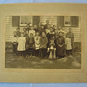 SALE One-Room Schoolhouse with Teacher, Class Photo Dated 1899
