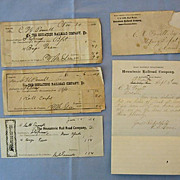 Connecticut�s Housatonic Railroad Receipts and Correspondence, 1880s