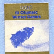 SALE 1932 Winter Olympics in Lake Placid � Competition Schedule, Lodging, Tickets