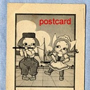SOLD Cute Dutch Kids Postcard � 1910, Signed Bishop