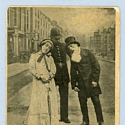 Comic  Postcard � Arresting Situation with Couple and Policeman