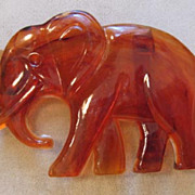 SALE Fantastic Large Elephant Buckle  Tortoiseshell Plastic