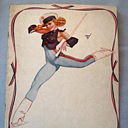 Ice Capades 1944 Program Magazine, Great Pin-Up Cover by Petty