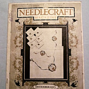 REDUCED Needlecraft Magazine with Collectible Cream of Wheat and Jello Ads, 1923