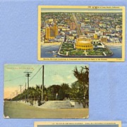 Three Vintage Postcards of Long Beach, California