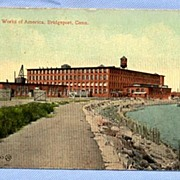 SALE Locomobile Works Factory, Bridgeport, CT, Circa 1915 Auto Postcard