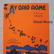 'My Ohio Home' � Lyrics Lonesome and Blue � Longing for Home, 1927
