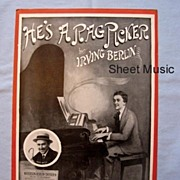 SALE 'He�s a Rag Picker', Irving Berlin Song, Illustration by Artist John Frew, 1914