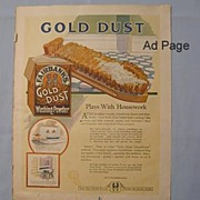 REDUCED Gold Dust Twins Washing Powder Ad, 1922 Needlecraft Magazine Page