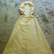 SALE Babys Long Cape with Hood, Unique and Beautiful Vintage Garment