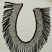 REDUCED Fabulous 1920s Flapper Beaded Fringe, Black Beaded Tassels