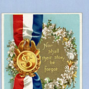 SOLD Patriotic Vintage Postcard Signed by Ellen Clapsaddle � Veterans Remembrance