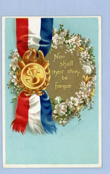 Patriotic Vintage Postcard Signed by Ellen Clapsaddle – Veterans Remembrance