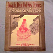 �Down in Dear Old New Orleans�, Steamboat and Cotton Bales on Cover, 1912