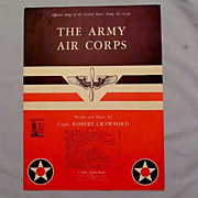 SALE Official Song of the US Army Air Corps  Winged Propeller Symbol, 1942