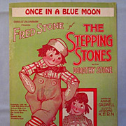 �Once in a Blue Moon� � Raggedy Ann and Andy Cover, 1923