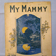 'My Mammy� � Song Made Famous by Al Jolson, 1921