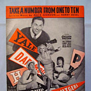 �Take a Number From One to Ten� � College Football Cover, 1934