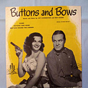 �Buttons and Bows� � Jane Russell and Bob Hope on Cover, 1948