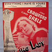 Everything I Have is Yours- Joan Crawford and Clark Gable on Cover, 1933