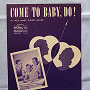 Come to Baby, Do!  Nat King Cole Trio  1945