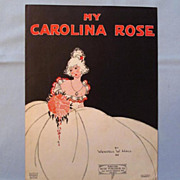 My Carolina Rose  Nice Cover by Van Doorn Morgan, 1921