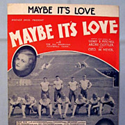 �Maybe It�s Love�  - 1930 Movie with All American Football Team