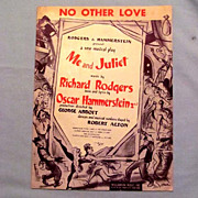 No Other Love Rodgers and Hammerstein Song with Cover by Artist Don Freeman, 1953