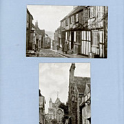 Two Vintage Postcards of Rye, England � Mermaid Street and Church