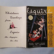 Esquire 1944 Calendar Promotional Flyer, with Monthly Pin-Ups