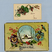 Two Reward of Merit Cards  Large and Small