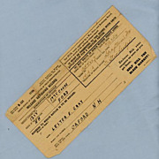 Gasoline Mileage Rationing Record, 1944 World War Two