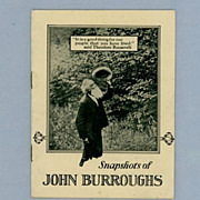 �Snapsbots of John Burroughs�, Advertising Brochure for Wake Robin Books